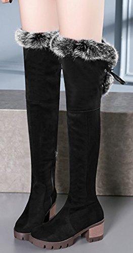Hiver Cuissardes Bottes Aisun Genou Femme Chaud de Chaussures 8WvIwq