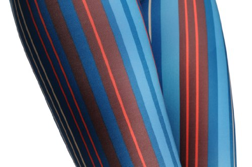 Prussian Blue & Yellow Stripes - Bleu Leggings Taille Unique (34-40)