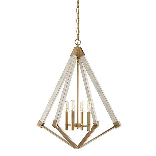 (Quoizel VP5204WS View Point Lantern Foyer Pendant Lighting, 4-Light, 240 Watts, Weathered Brass (28