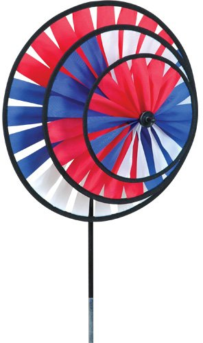 Bold Innovations 21709 Wind Garden Patriotic Triple Spinner Wheel