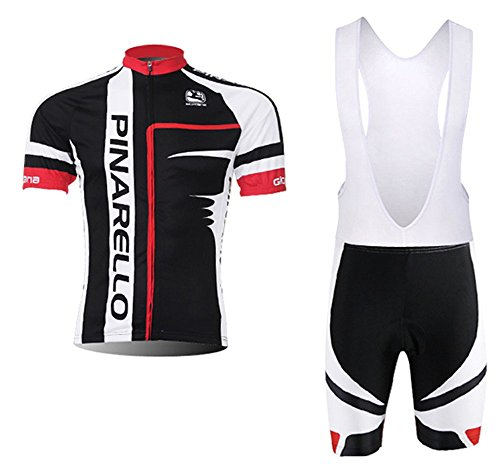Men's Cycling Jersey Set Bike Jersey Bicycle Summer Breathability Short Sleeve Suit C136 (X, L)