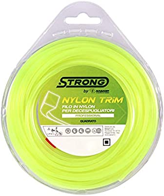 Strong Nylon Trim Hilo desbrozadora, Amarillo: Amazon.es: Jardín