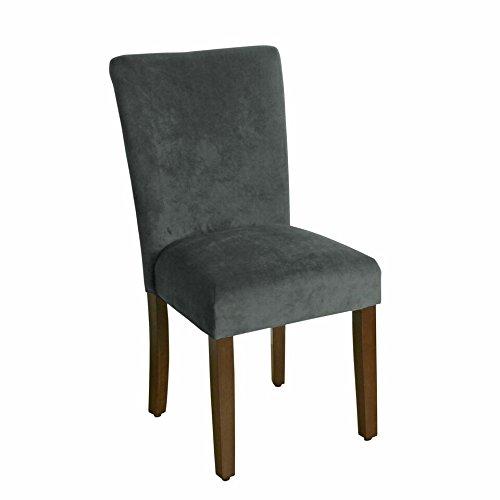 Kinfine K6805-B229 Velvet Parson Dining Chair, Grey Velvet by Kinfine