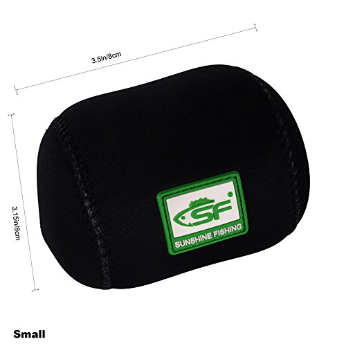 SF 5mm Neoprene Conventional Casting Reel Covers Round Baitcast Fishing Reel Cover Case S M L