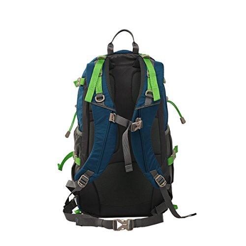 Super Leichter Wasserdichter Rucksack Single Doppel Umhängetasche Für Wandern Biking Rucksack,OceanBlue GrassGreen