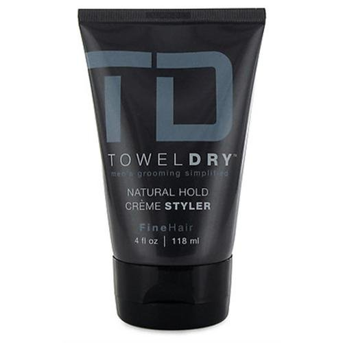 Towel Dry Natural Hold Creme Styler for Men, 4 Ounce