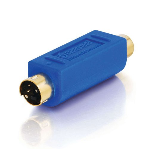C2G 13058 Bi-Directional S-Video Male to RCA Female Video Adapter, Blue