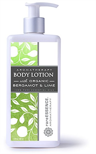 rareEssence Aromatherapy Body Lotion Bergamot & Lime, 13 fl oz (Lime Therapy Lotion)