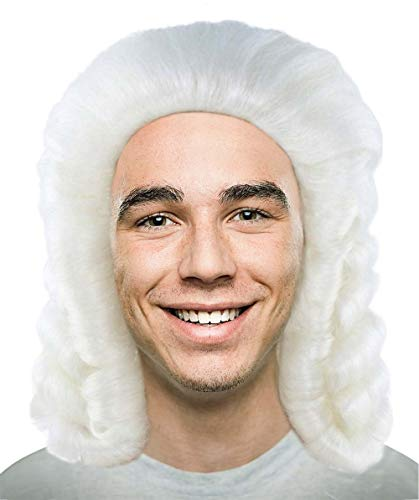 Halloween Party Online Colonial Judge Wig, White Kids HM-494