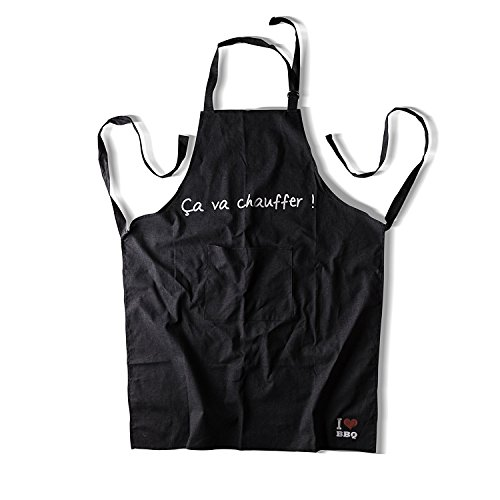 Flame Retardant Bib Apron with Pockets- Kitchen Cooking Apron for Men and Women, Adjustable Neck Strap - Long Ties, Perfect BBQ Grilling Apron (15 Sec Fire Retardant) by Homi