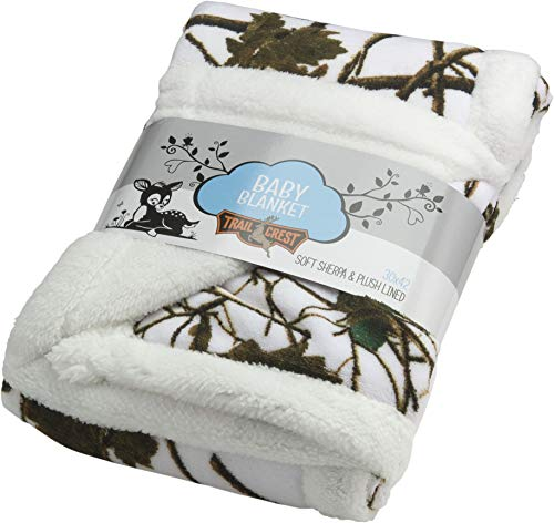 - Baby Snow Forest Soft Poly fleece Sherpa Blanket 30 X 42