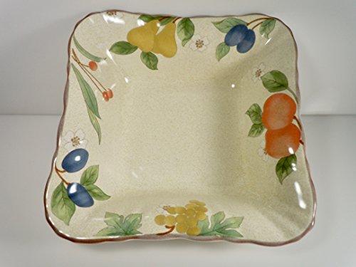 Mikasa Fruit Panorama Country Classics Square Vegetable Bowl 7 1/2
