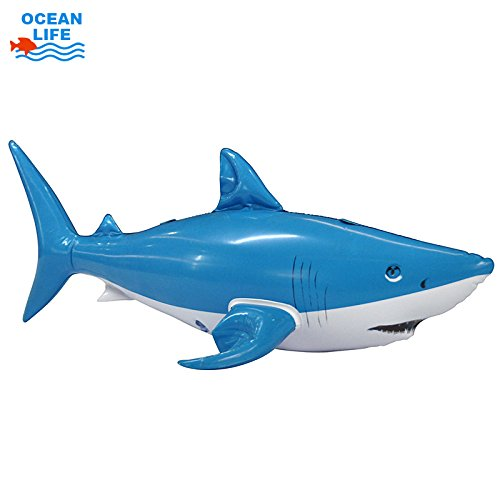 Jet Creations an-SHARKY Inflatable Sharky Decor, 24 Inch in length - great for home decor, party favors supplies, and gifts
