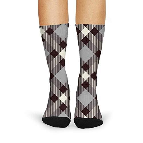 Cute Adorable British Plaid Lattice Fashion Women's Sporty Knee High Socks