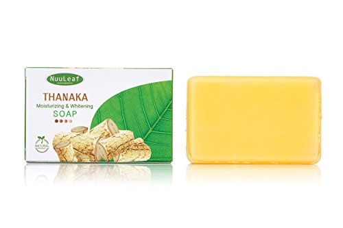 Thanaka & Glutathione Moisturizer Whitening Soap - Natural Skin Lightening Formula - Soft And Bright Skin, Gentle Exfoliation of Skin Bleaching, Age & Acne Scarring Remedy - For All Skin Types