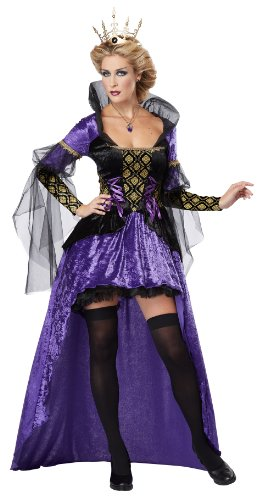 California Costumes Women's Wicked Queen Adult, Black/Purple, -