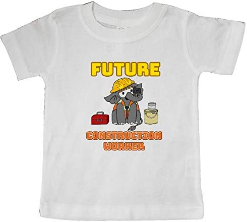 inktastic Future Construction Worker with Cute Baby Elephant Toddler T-Shirt