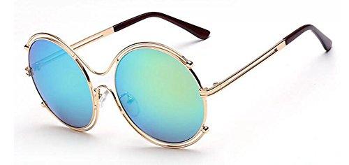 rond retro en Jaunes style de lunettes polarisées soleil Verts du Lennon vintage métallique cercle Comprimés inspirées Aw7qzYqBZ