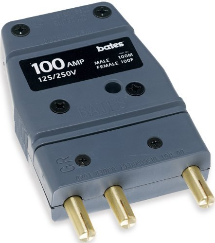 Marinco 100M Bates - Stage Pin 100 Amp, 125 Volt, Male Inline