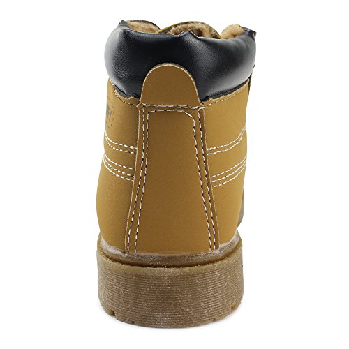 Pictures of Maxu Kid's Rain Boots Warm Combat 3