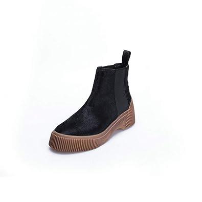 27b55c2eb1d55 Amazon.com | Womens Flat Platform Short Plush Ankle Boots Fashion ...