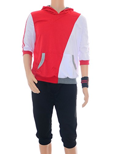 [Men's Pokemon GO style Original Hoodie Costume Japanese Cosplay (L)] (Japanese Costumes For Male)