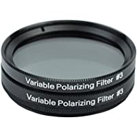Gosky 2 Inch Variable Polarizing Filter No3 for Telescopes & Eyepiece - Progressively Dim the View - Increasing Contrast - Reducing Glare and Increasing Detail