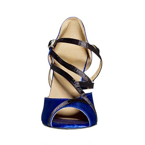 misu - Zapatillas de danza para mujer Azul azul