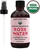 Rose Water for Face & Hair, USDA Certified Organic Facial Toner. Alcohol-Free Makeup Setting Hydrating Spray Mist. 100%...