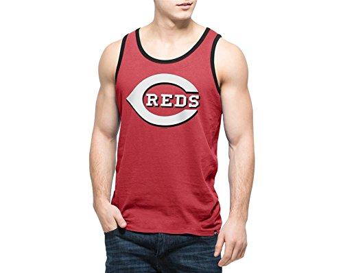'47 MLB Cincinnati Reds Men's Crosstown Tank Top, X-Large, Rescue Red