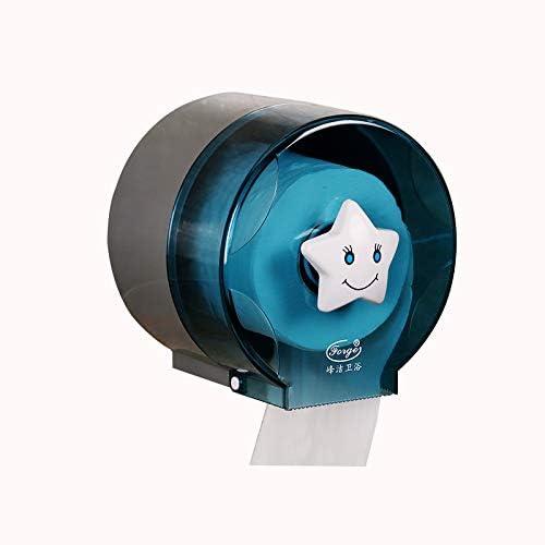 GONDD 小さなロールティッシュホルダーバスルームトイレットペーパータオルスタンド壁掛け透明バスルーム収納アクセサリー、サイズ:145x137x143mm