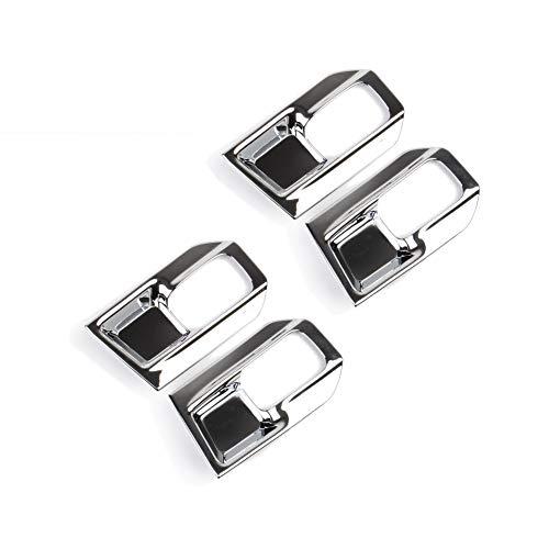 JSTOTRIM Chrome Interior Door Handle Bowl Cover Trim fit 2014 2015 2016 2017 2018 Dodge RAM 1500 2500 3500 Accessories