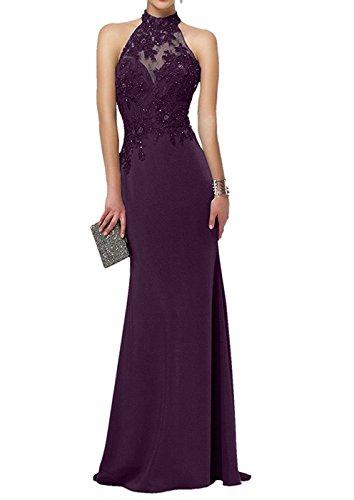 Spitze Applikation Damen Ballkleider Bainjinbai Lang Cocktail Purple Abendkleider Brautjungnkleider 6qa4x7WxwE