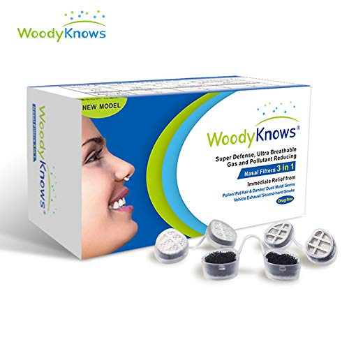 WoodyKnows 3in1 Nasal Mask (Slotted Nostrils, M(3Frames))