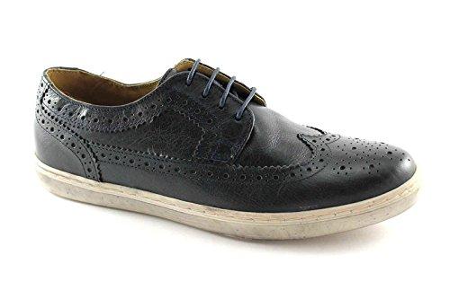 zapatos de Base London EMPERATRIZ P09400 hombres de la Marina senakers Inglés Blu