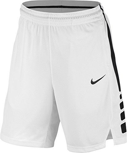 NIKE Men's Elite Basketball Short White/Black Size XX-Large