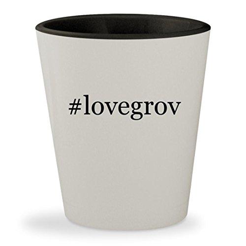 #lovegrov - Hashtag White Outer & Black Inner Ceramic 1.5oz Shot Glass