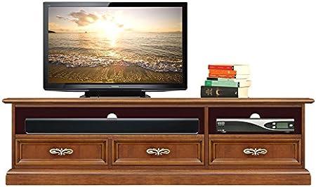 Arteferretto Mueble TV con Estante y cajones, Mueble televisión ...