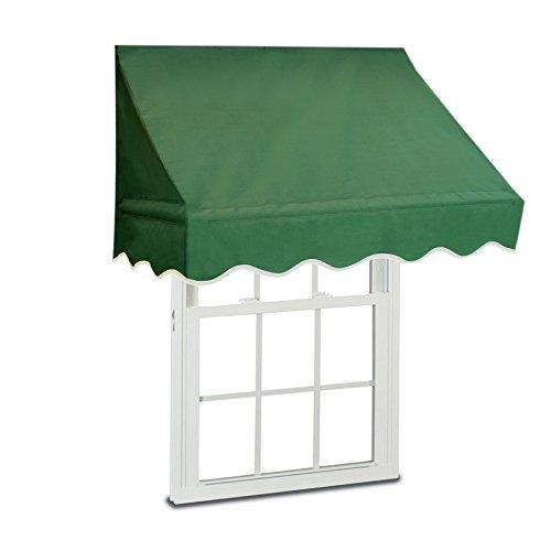 Aleko Window Awning Door Canopy Decorator, 4 feet x 2 feet, Green
