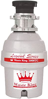 Waste King L-5000TC Legend Series 3/4 HP Batch Feed Operation Garbage Disposer