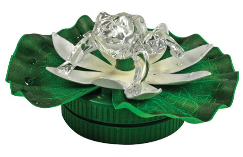 - BANBERRY DESIGNS LED Frog in Pond LED Floating Lily Pad - Frog Color Changing - Waterproof