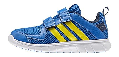 Adidas Unisex Baby sta Fluid 3 CF K Scarpe da ginnastica, multicolore (Azul / Amarillo (Azuimp / Amabri / Azumin)), 29 EU