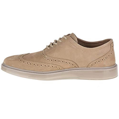 Hush Puppies Mens Shiba Brogue Oxford Taupe Nubuck