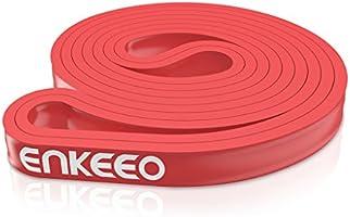 enkeeo トレーニングチューブ 長さ208cm×厚さ0.45cm 天然ゴム製 耐久性あり 軽量 コンパクト 5段階負荷を選べる 筋トレ 体幹強化やインナーマッスルなど用 ZX【メーカー保証】