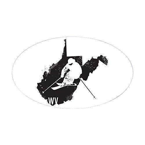 CafePress - Ski West Virginia - Oval Bumper Sticker, Euro Oval Car (The Mountain Telemark Skis)