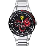 Ferrari Men's Rederv Quartz Stainless Steel and Bracelet Casual Watch, Color: Silver (Model: 830589)