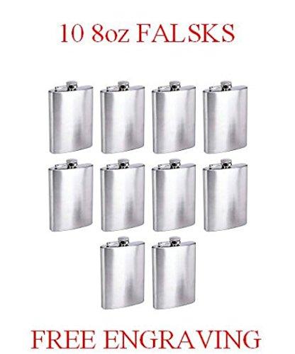 【良好品】 Lot of 10 Personalizedフラスコ8オンスヒップフラスコWdding Favors of Best ManギフトカスタムMade 10 B01E66FV1Q Presetn Engravedフラスコsutom fovorss B01E66FV1Q, 大竹市:e2aad14a --- book.officeporto.com