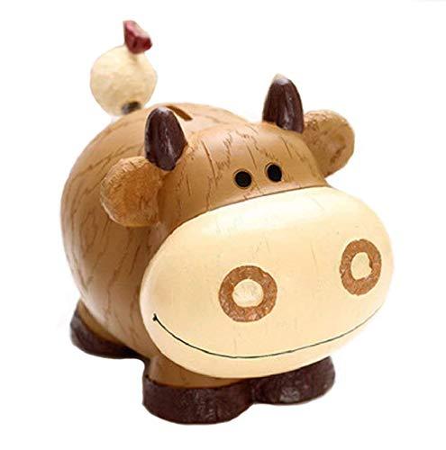 zoele Creative Cartoon Cow Piggy Bank Safe Money Box Saving Bank Storage Box