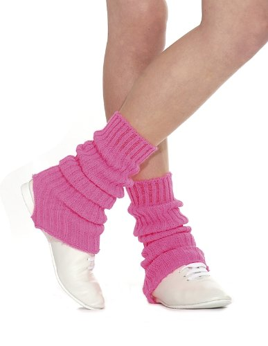 Roch Valley Dance Knitted Leg Warmers 40 cm Navy Blue 80/'s