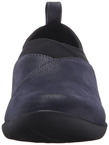 Mocassino Sillian Greer Slip da donna di Clarks, Nubuck sintetico blu scuro, 12 M US